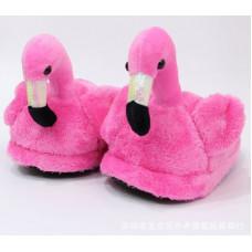 Тапочки Фламинго Ярко Розовый