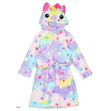 Детский халат кигуруми Единорог Звездный