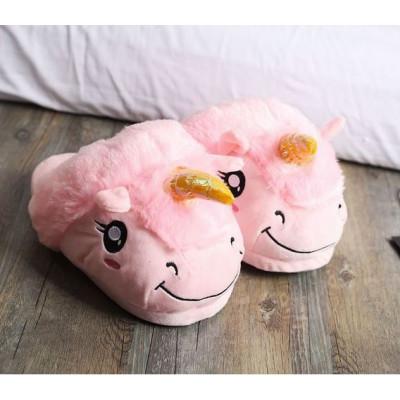Тапочки Единорог Розовый