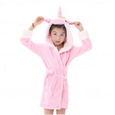 Детский халат кигуруми Единорог Розовый