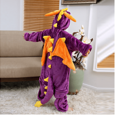 Кигуруми Фиолетовый Дракон