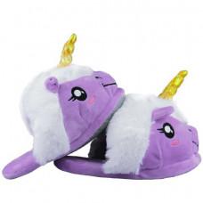 Тапочки Единорог Фиолетовый