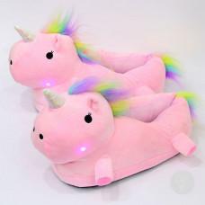 Тапочки Единорожек Розовый