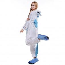 Кигуруми Единорог Бело голубой