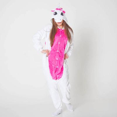 Кигуруми Единорог Бело розовый